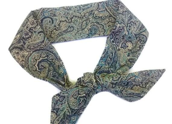 Bandeau, serre-tête noeud en Dolly, rétro ficeler des femmes tête foulard Paisley cravate sur le bandeau de tête de noeud Top Wrap, bandeau Bandana, Rockabilly