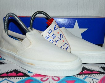 f3d6eac05e7 converse skidgrip vintage rare canvas deadstock og made in usa womans 7 nwb