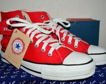 ff3cd63cb11b Converse all star 90's canvas vintage rare deadstock nos made in usa 6.5  nwob