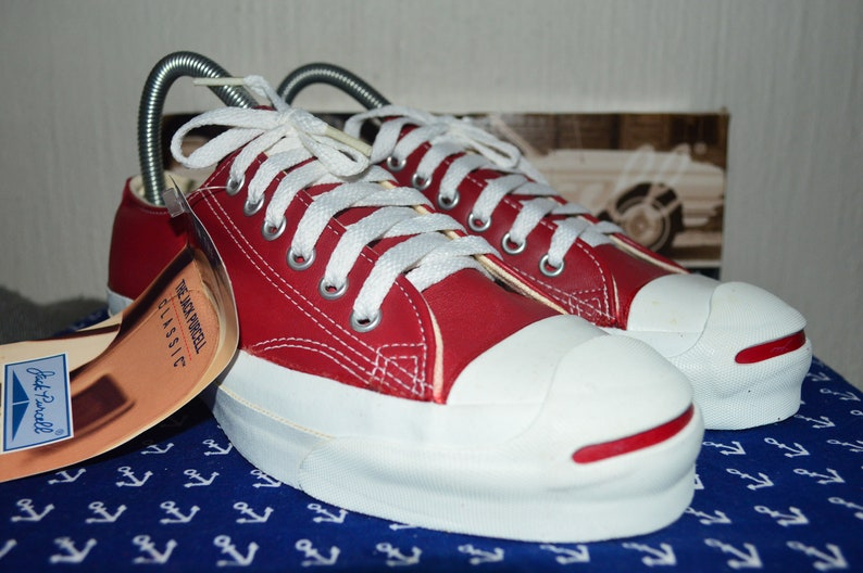 ad925dc625c50 converse jack purcell vintage rare leatherdeadstock og made in USA 5.5 nwb