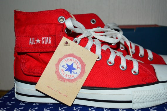 Converse all star 90's canvas vintage rare deadstock nos made in usa 6.5 nwob