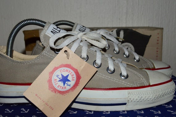 converse all star vintage rare canvas deadstock og made in usa 6 nwb