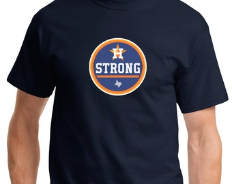 Houston Strong Navy T-Shirt Sizes Small to 5XL