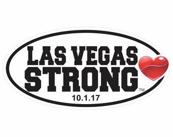 Las Vegas Strong Decal available in Two Sizes with Optional Date