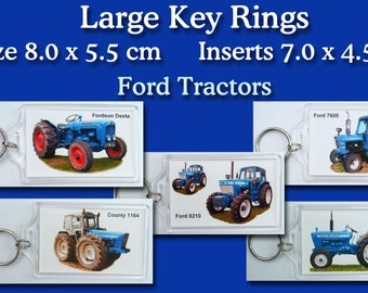 Key Rings...Ford Tractors 15 makes