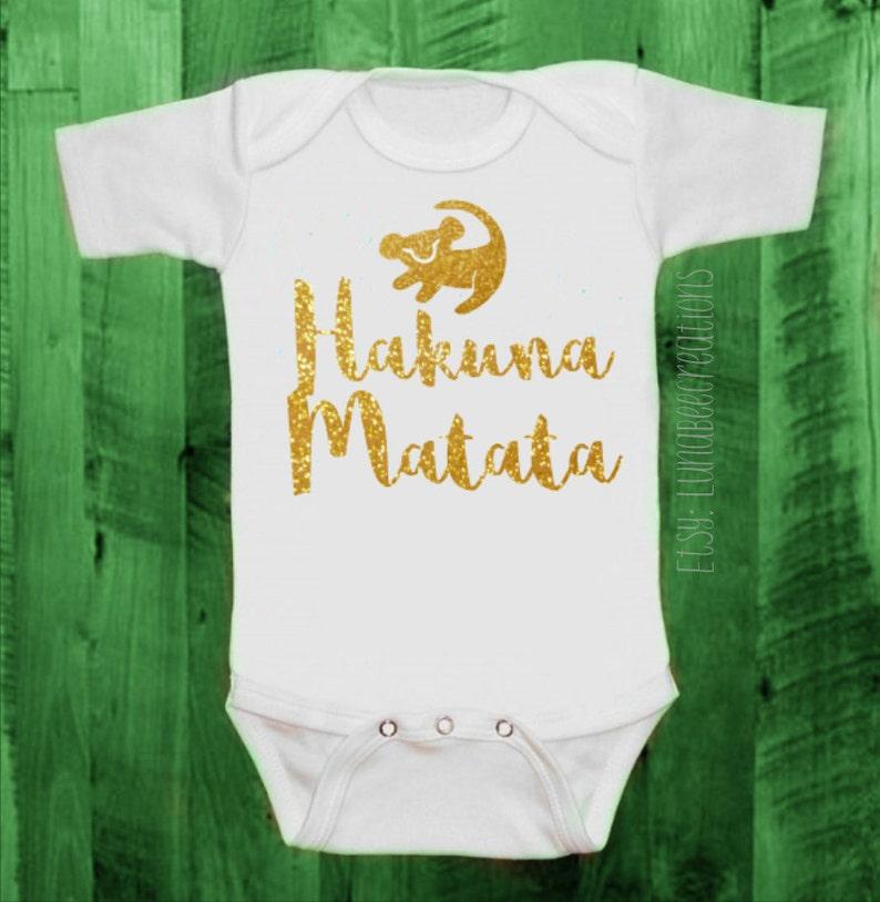678f7f5f5a1c Baby-Adult Sizes Multi Colors Hakuna Matata Unique Cute