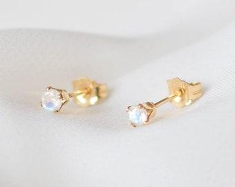 Golden Moonstone Drops \u2022 Gifts for her \u2022 Moonstone earrings