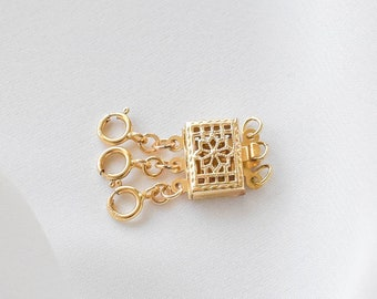 Detangler Clasp - gold filled detangler, anti tangle clasp, separator clasp, necklaces tangling |GFX00001