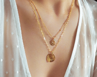 Constellation Coin Necklace - horoscope necklace,  Zodiac Necklace, Scorpio Necklace, Virgo necklace, Leo Necklace, Disc Necklace |GFN00021