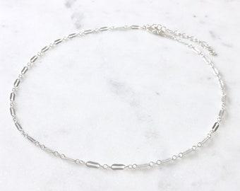 9ecb3240e33a9f Sterling Silver Sparkly Choker - Dainty Chain Choker, Silver Chokers, Thin  Choker, Silver Chain Choker, Dainty Necklace, Simple Choker