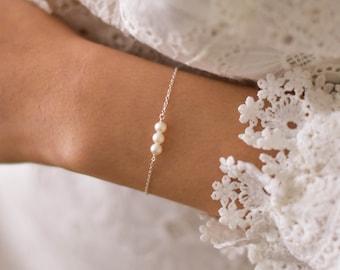 Pearl Bracelet - pretty bracelets, elegant bracelets, silver pearl bracelet, gold pearl bracelet, sterling silver pearl bracelet