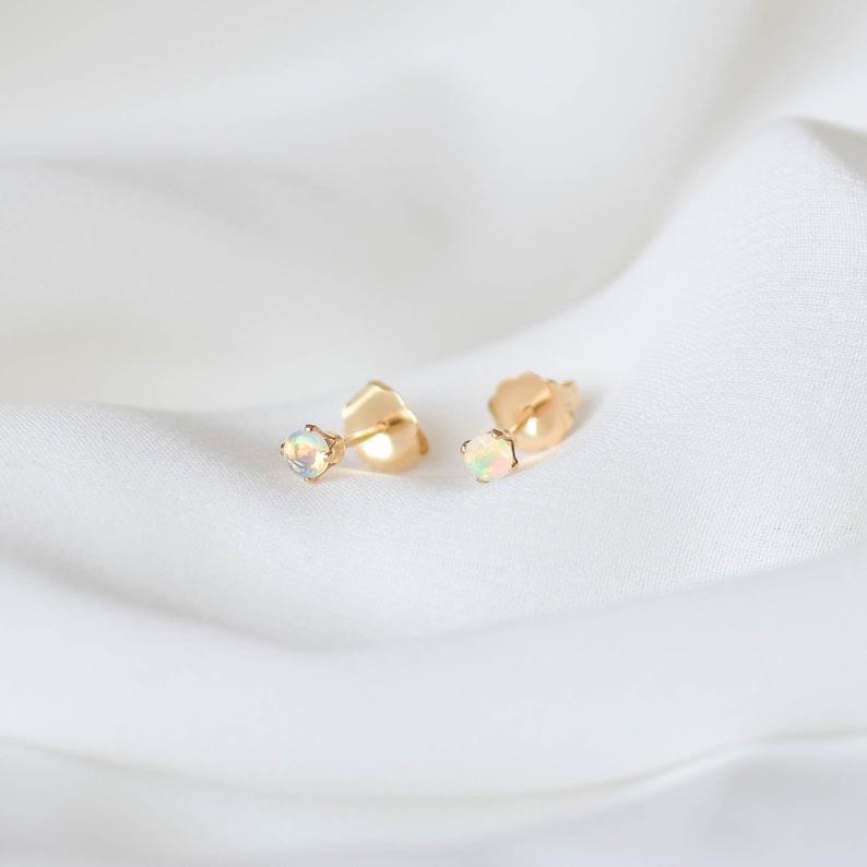 Studs  GFE00025 Real Opal Earrings Genuine Opal Stud Earrings Gold Filled Stud Earrings Opal Earrings Natural Opal Earrings Gold