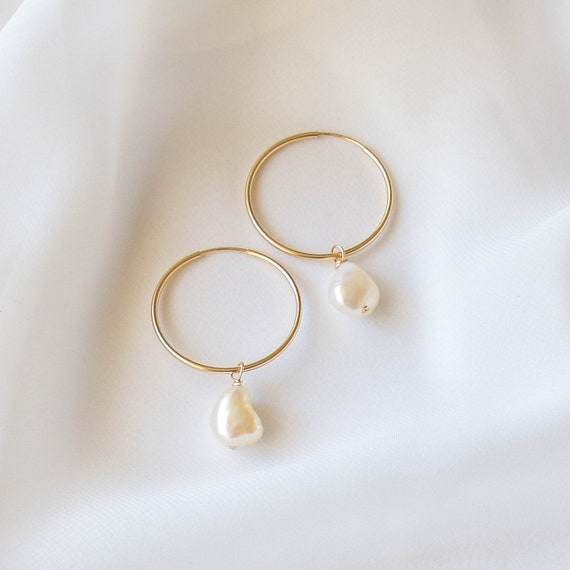 Pearl Earring /& 14k Gold Plated