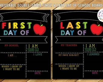 IMPERFECT* Handmade Seconds First Day of School Chalkboard, Reusable First Day of School Sign, First and Last Day of School Sign,