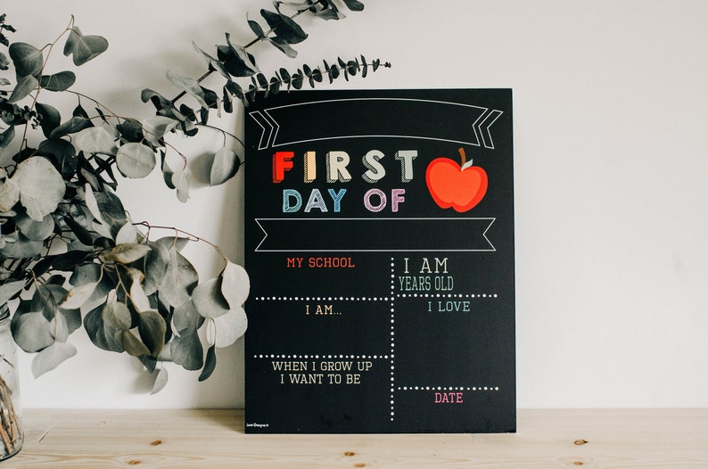 Reusable 2-in-1 First & Last Day of School Sign first day of school