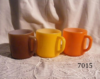 Set of 3 Fire-King Coffee Cups