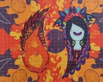 Pailey Time Pt: 3 Blotter Art, Marceline and Flame Princess