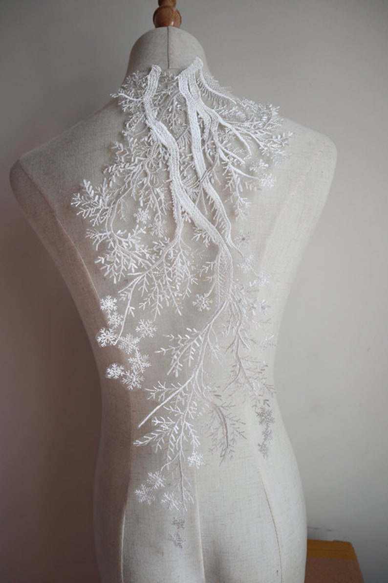 Ivory lace applique tree styles off white lace applique for bridals bodice wedding evening gowns bridal hem back accessories