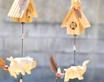 Flying pig (free shipping )and Elephant hanging planter , outdoor or indoor mobile ,removable  spinner