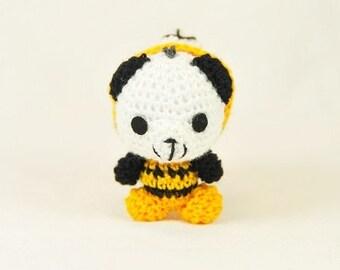 "Panda - Tiger ,2"" tall hand crochet finished doll"