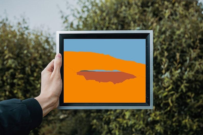 Canyonlands National Park Mesa Arch Print  DIGITAL DOWNLOAD image 0