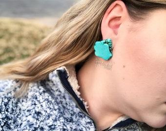 5269cccb1 Turqouise Howlite Slab Earrings