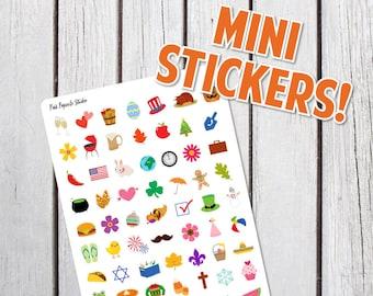 Mini Holidays Planner Stickers Designed for Erin Condren Life Planner