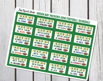 photograph regarding Packers Printable Schedule named Packers agenda Etsy