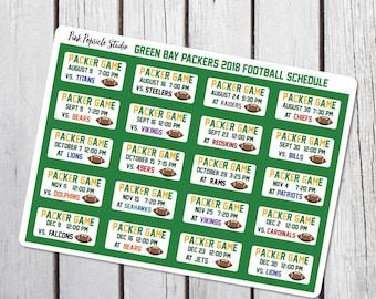 photo regarding Packers Printable Schedule known as Packers program Etsy