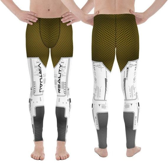 Burning Man Men's Leggings - Robot Cosplay Armor Pants EDM Rave Playa  Costume SciFi Leggings Steampunk Motocross Athletic Workout Wear