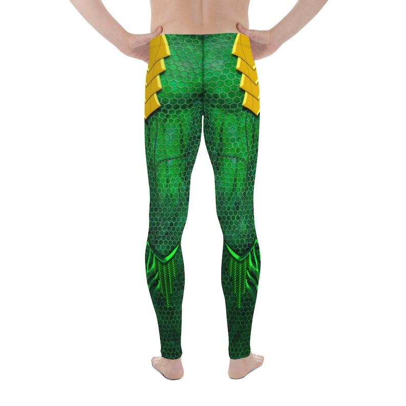 Aquaman 2019 Burningman Meggings 3D Printed Leggings Comicon Leggings Merman Leggings Festival Rave Workout Wear Cosplay Leggings