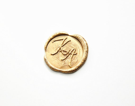 Personalized Casual Calligraphy 2 Initials Monogram Wax Seal