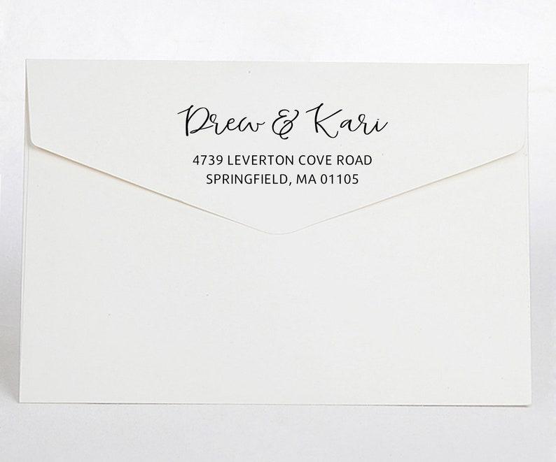 self inking Return address stamp,family address stamp,custom address stamp,wedding address stamp Q066