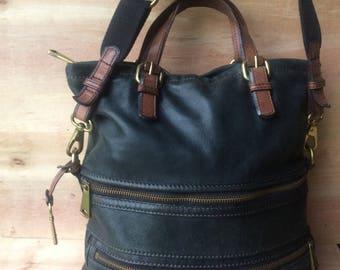 vintage FOSSIL x large shoulder bag purse 543175e445cf5