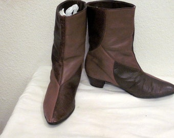 75f31c5aaf6d6 60s flat boots | Etsy