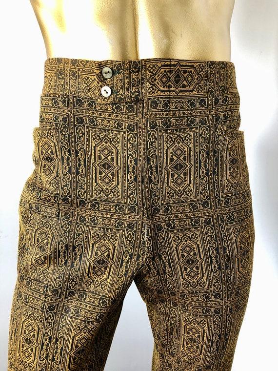 men WOODSTOCK vintage 1970s polyester pants slacks