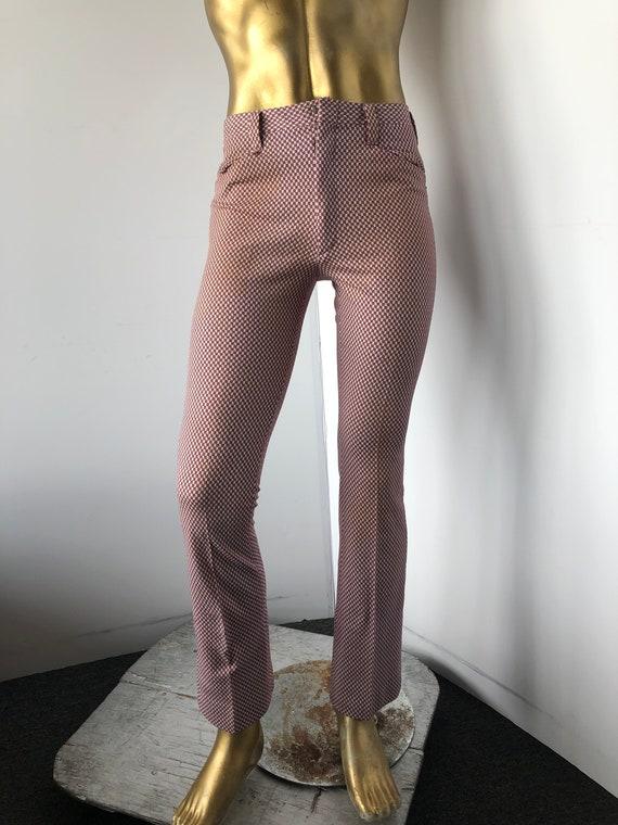 tight WOODSTOCK vintage 1970s men polyester pants