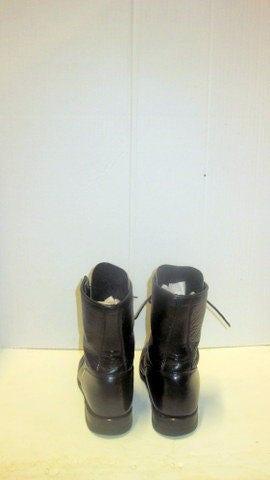 Sz 9.5 ee vintage JUSTIN JUSTIN JUSTIN  botas  negro cuero  lace up granny combat  botas  f945f8