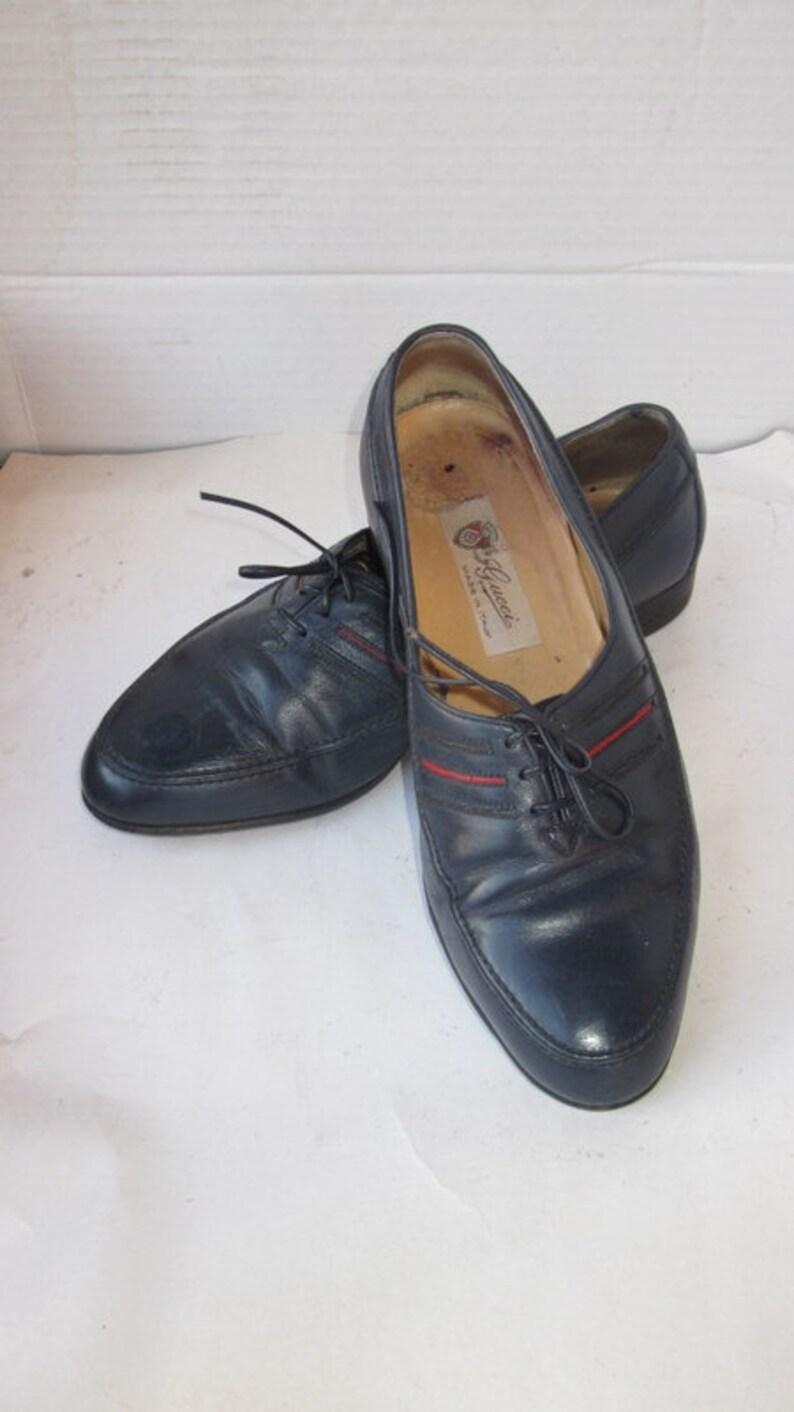 32b60be11c9 GUCCI dress loafer sz 41.5 vintage men stylish mid night