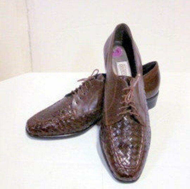 b298b60dd BANDOLINOS sz 8 b vintage shoes wonen brown braided and smooth | Etsy