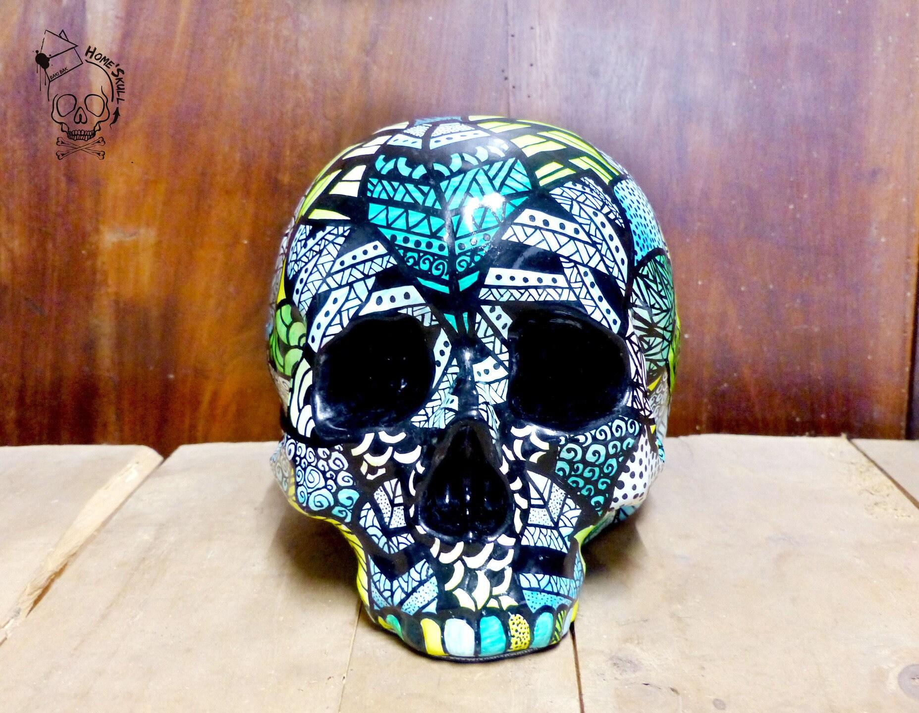 Home'Skull , Skull Head, Vanity, Skull, Skull Leaf