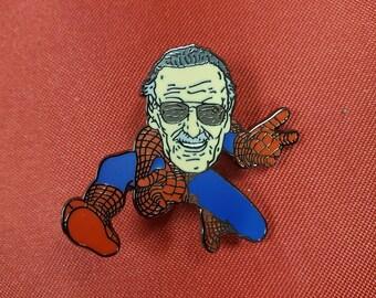 Stan Lee Fan Art Enamel Pin