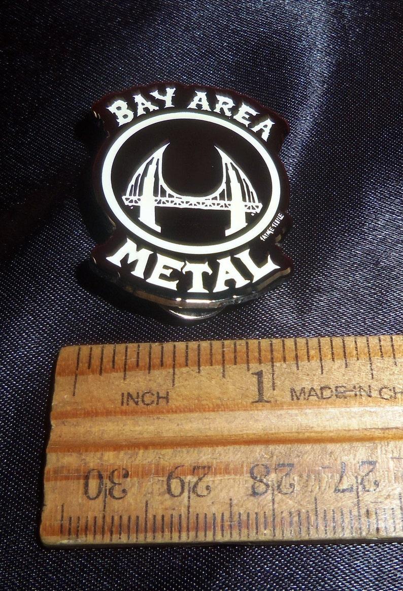Bay Area Metal Enamel Pin Glow in the dark