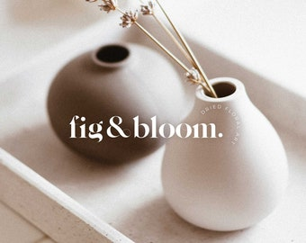 Modern & Feminine Minimalist Logo Design   Semi-Custom Logotype   Premade   Modern   Natural   Neutral   Luxury   Boutique   Brand   Style