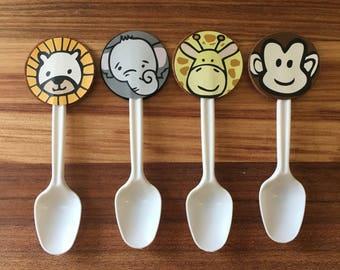 Baby / safari / jungle animals desert spoons