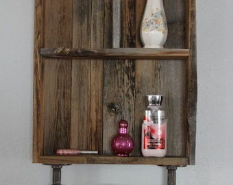 Bathroom Wall Cabinet, Reclaimed Wood Shelves, Medicine Cabinet, Shelves,  Farmhouse Decor,Farmhouse Shelf, Rustic Bathroom Shelves
