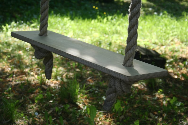 70 cm adjustable length ropes outdoor tree swing Large wood swing 2.3 feet wide plywood swing for both kids and adults
