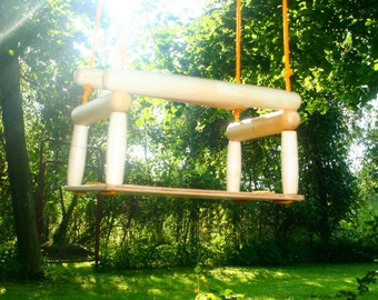 kids wood swing, swing for children, swing for toddlers, safe eat and adjustable length ropes  Great both indoors and outdoors,