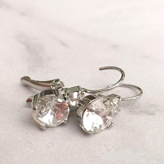 Simple crystal earrings crystal drop earrings diamond drop ...