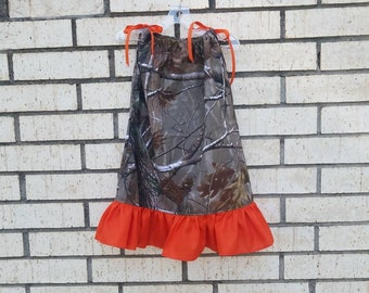 827da74f5 Camo Flower Girl's Dress, Summer Fall Outddor Barn Wedding, Baby Camo  Pillowcase Sun Dress, Camo Birthday Party Set, Infant Toddler Teen